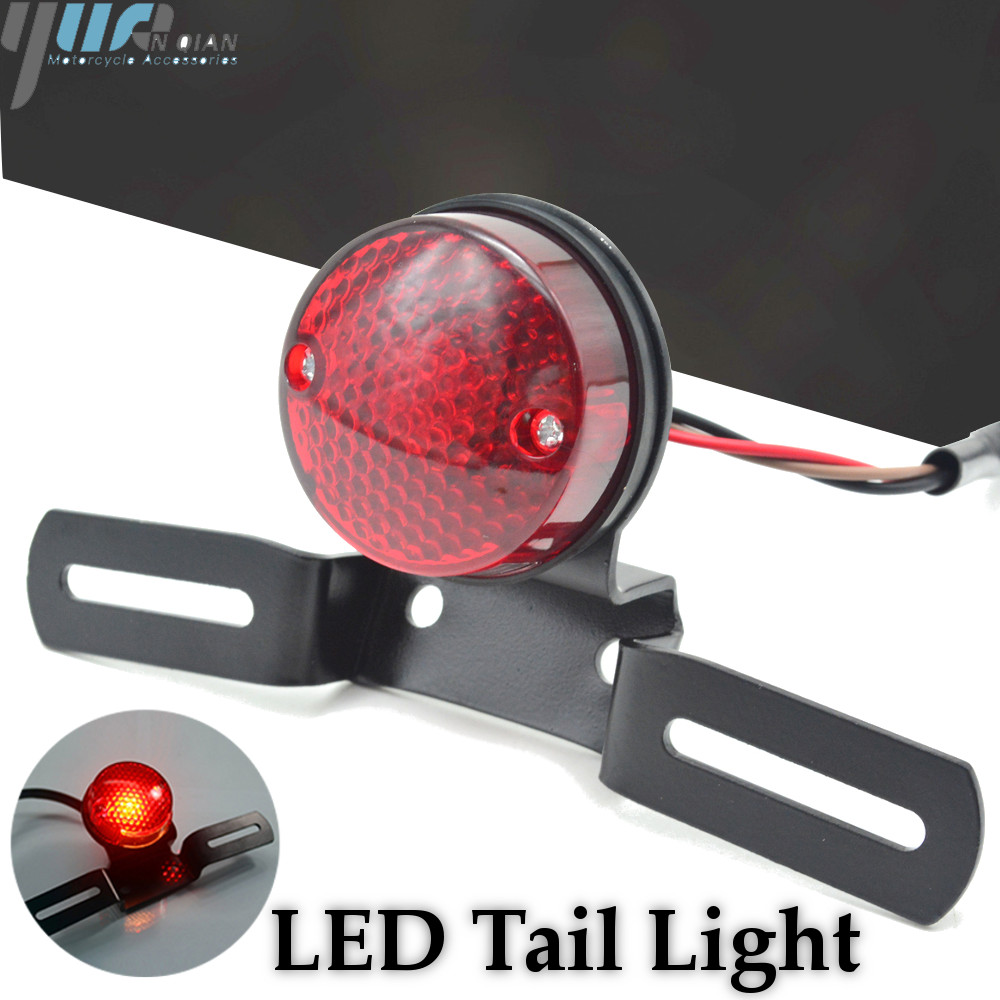 RED LED Rear Brake Tail Light Lamp Triumph Motorcycle x 2pcs