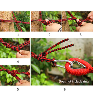 Image 5 - Outdoor Furniture Canvas Fabric Double Wood Spreader Bar Stick Hammock Tent Outdoor Camping Swing Hanging Two person Hammock Bed