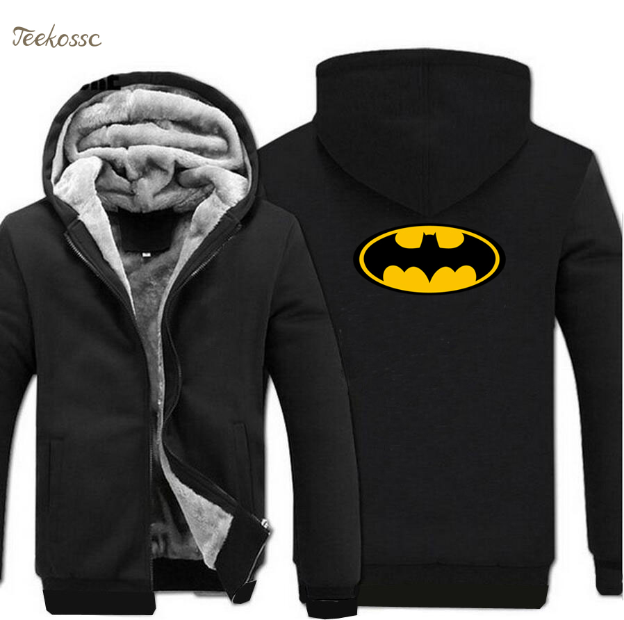 Super Hero Cartoon Hoodie Sweatshirt Men 2018 Winter Warm Fleece Hooded Zipper Sweatshirts Mens Thick Coat Hoodies Tracksuit 5XL