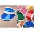 6 unids/lote neon vacaciones de Verano visera parasol sombrero de fiesta tapa de plástico transparente