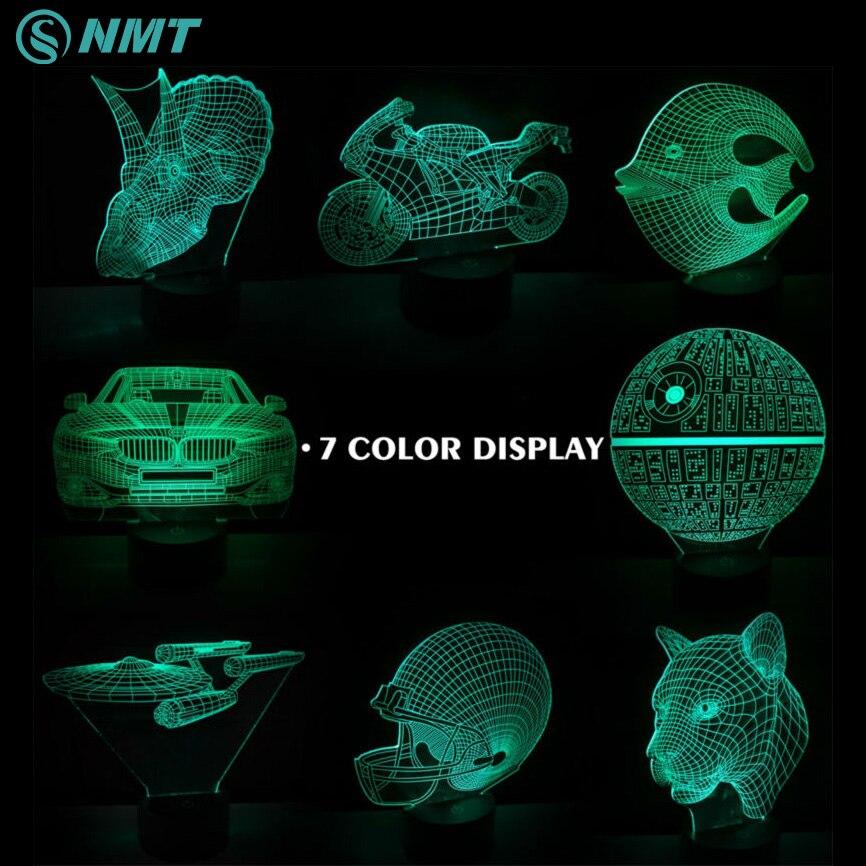 Dc5v Usb Led Night Light 3d Illusion 7 Colors Atmosphere