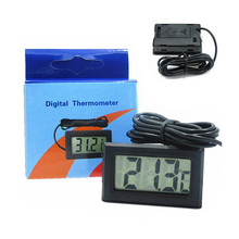 1 STÜCK Min LCD Display Digital Thermometer Auto Kühlschrank Aquarium Embedded Elektronische Digital Thermometer