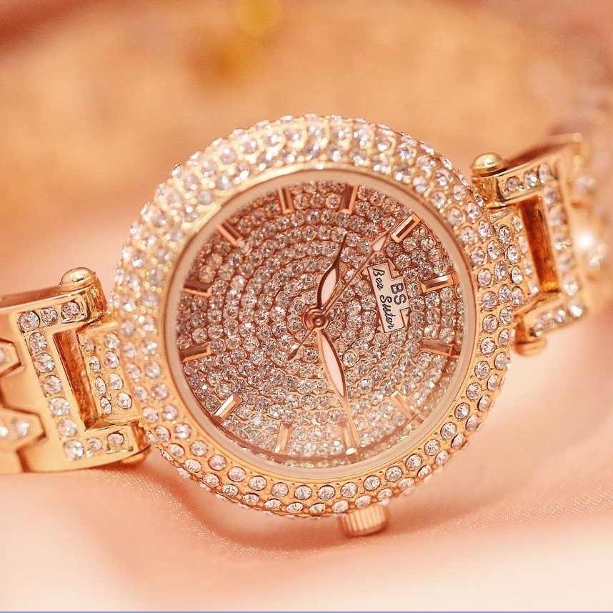 Luxury Diamond Dial Women Watches Ladies Dress Brecelet Watches Girl Fashion Casual Quartz Watches Waterproof Bayan Kol Saati