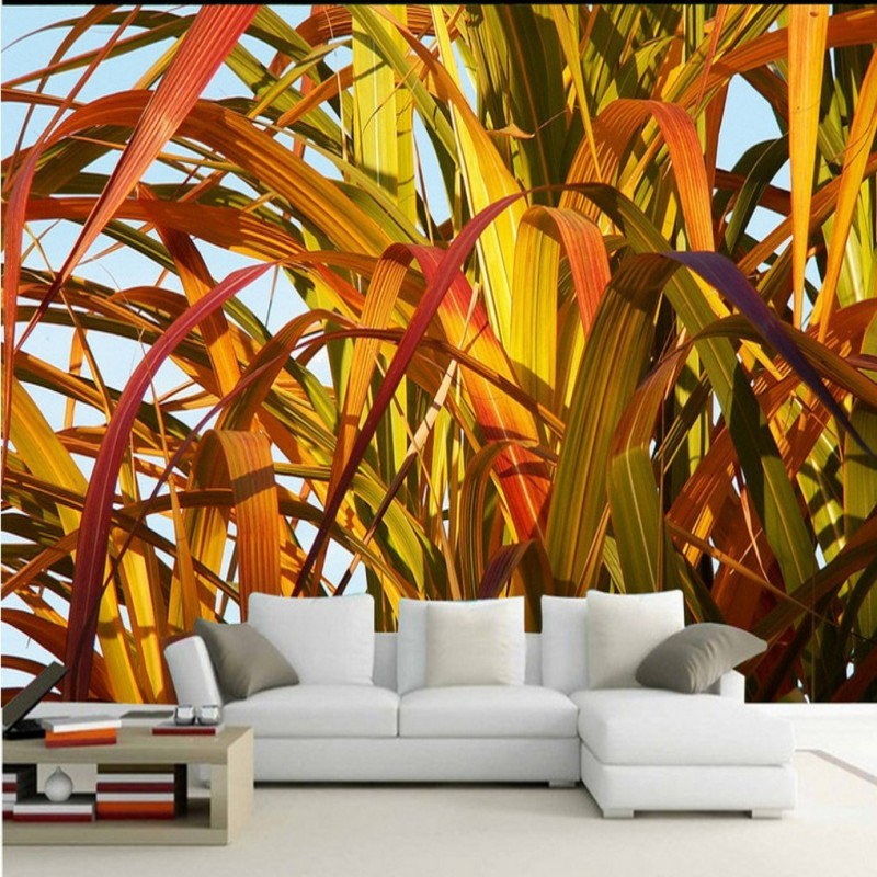 Custom photo wallpaper Autumn bamboo leaves nature mural living room TV backdrop Restaurant bedroom corridor wallpaper custom 3d mural wallpaper european style painting stereoscopic relief jade living room tv backdrop bedroom photo wall paper 3d