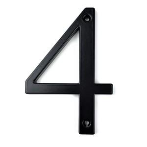 Black 101mm Height House Number Big House Door Address Number Digits Zinc Alloy Screw Mounted Big Door Address Sign #4
