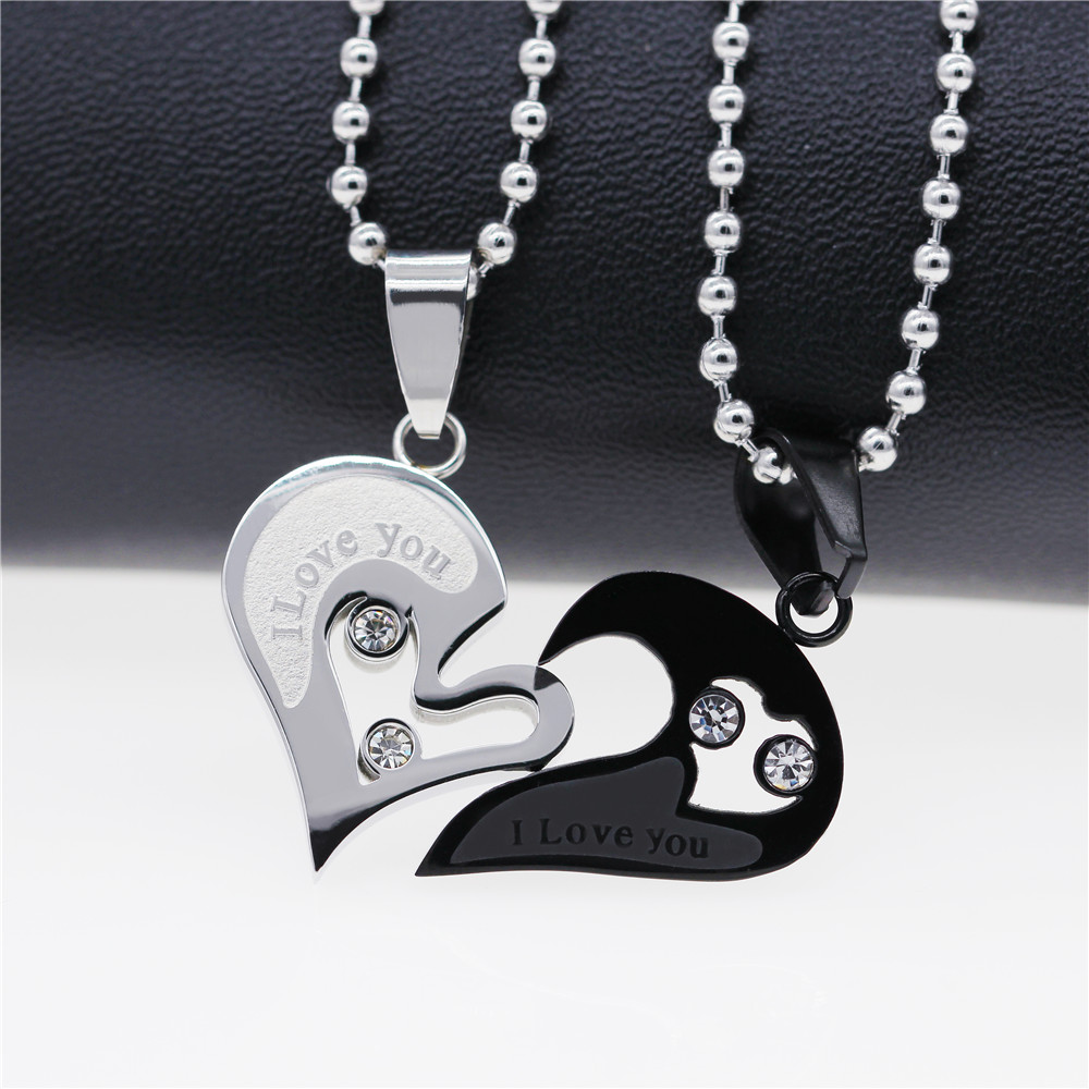 Heart Necklace for Couples