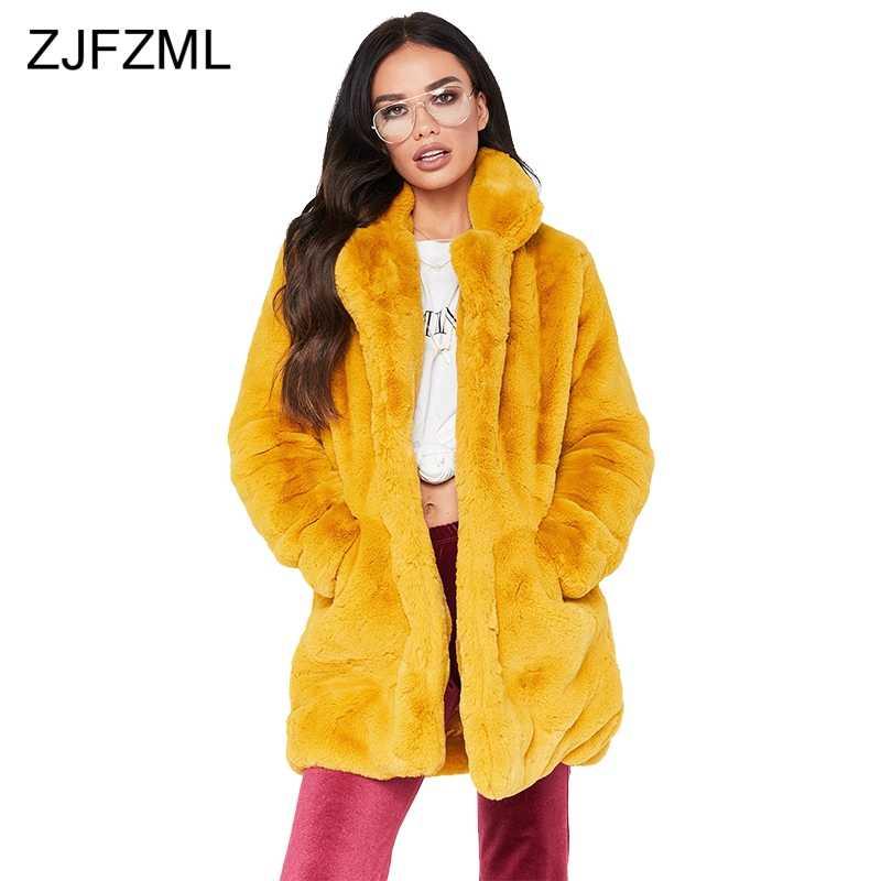 ZJFZML флисовые бархатные повседневные пальто размера плюс женская одежда новая осенняя зимняя верхняя одежда с длинным рукавом Уличная утолщенная теплая куртка