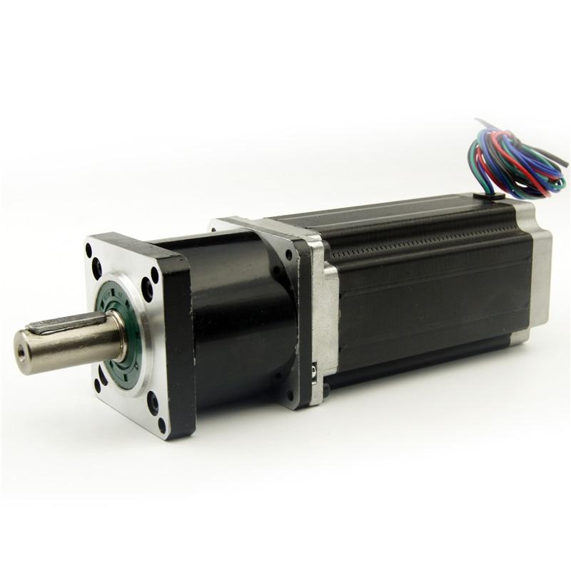 NEMA23 Jingbo stepper motor with Planetary gearbox Gear Ratio 5:1 motor length 115mm 3.0A nema23 planetary gearbox stepper motor gear ratio 15 20 25 30 40 50 100 1 nema23 motor length 112 mm