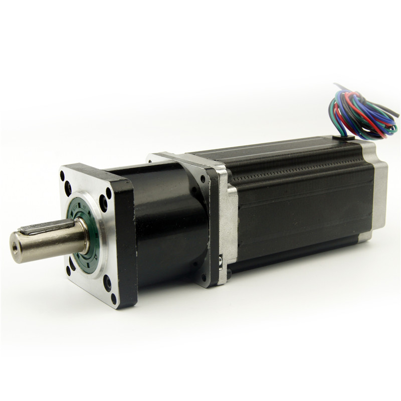NEMA23 stepper motor with Planetary gearbox 4:1/5:1/10:1/16:1/20:1/25:1/40:1/50:1/100:1 reducer ratio Motor length 115mm 3A nema23 geared stepping motor ratio 50 1 planetary gear stepper motor l76mm 3a 1 8nm 4leads for cnc router