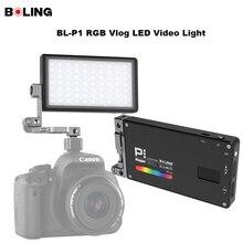 Booling original BL P1 rgb led luz de vídeo pode ser escurecido estúdio cor cheia vlog fotografia iluminação com 360 suporte para câmera dslr