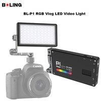 Original Boling BL P1 RGB LED Video Light Dimmable Full Color Studio Vlog Photography Lighting with 360 Bracket for DSLR Camera