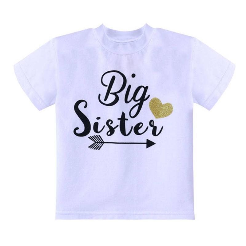 Children Clothing-Set Tops Short-Sleeve Printed Baby New Letter White And Sister Romper