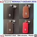 High quality car inner Stick styling cover detector Leather key Chain bag cases Graffiti frame lamp 1pcs for Renault Kadjar 2016