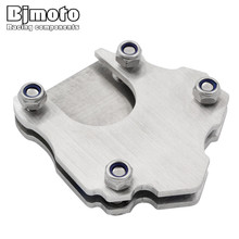 BJMOTO Universal Stainless Steel Side Kickstand Stand Extension Plate For Motorcycle Sporter Scooter