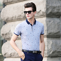 2016 Short sleeve 100% cotton fashion striped men business polo shirt