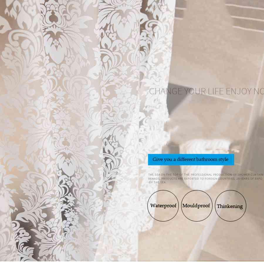Art Design Damask Floral Shower Curtain 1