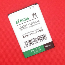 High Capacity 5200mAh BL-53YH Battery Use For LG G3 D858 D855 D857 D859 D850 F400 F460 F470 D830 D851 VS985