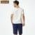 Conjunto de pijama para coulpe qianxiu verão em casa para os homens o-pescoço de algodão sleepwear