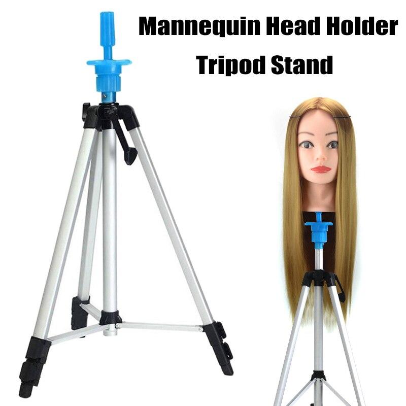 Mannequin Head Holder Tripod Stand Adjustable Hairdressing Practice for Salon Barber Hairdresser H7JP
