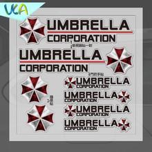 15x15cm Umbrella Corporation Sticker Set Refitting Car Styling Decals Rearview Mirror Door Handle Window Body Decor Universal