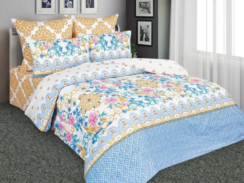 Bedding Set double Amore Mio, white, with pattern sexy stripe pattern bikini set with knot in blue