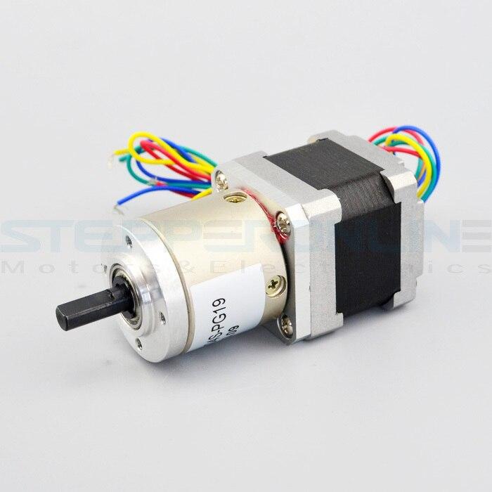 цена на Gear ratio 19:1 Planetary Gearbox stepper motor Nema 14 0.8A Geared Stepper Motor 3d printer stepper motor 14HS13-0804S-PG19