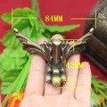 4 Peças de Bronze Antigo Jóias Box Pés Box Animal Perna 84x42mm
