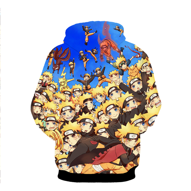 New Design Naruto 3D Hoodies