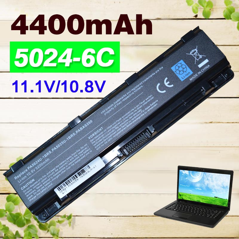 Galleria fotografica 4400 mAh Batteria Per <font><b>Toshiba</b></font> PA5023U-1BRS PA5024U-1BRS PA5025U-1BRS PA5026U-1BRS Per Satellite C855 L855 L870 M805 M800 C50 C875