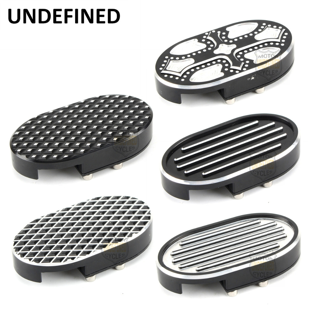 Motorcycle Brake Foot Pegs Pedal Pad Cover Aluminum Footrest For Harley Sportster XL883 XL1200 Dyna Wide Glide V-Rod UNDEFINED