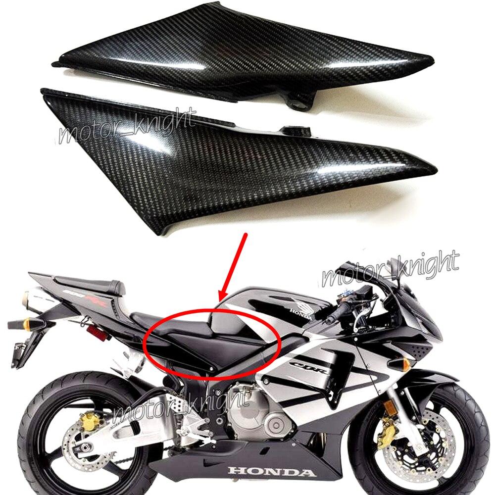 Carénage du panneau de couverture latérale du réservoir pour Honda CBR600RR F5 2003 2004 pièces de moto en Fiber de carbone