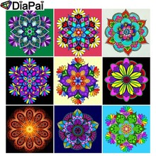 DIAPAI Diamond Painting 5D DIY Full Square/Round Drill Religious Mandala 3D Embroidery Cross Stitch Decor Gift