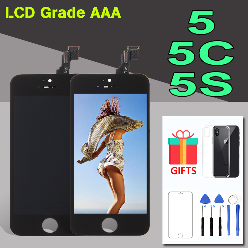 AAA+ Quality Display Module For iPhone 5 5S 5C LCD Screen and Touch Digitizer Assembly Replacement For iPhone5S LCD Black WhiteAAA+ Quality Display Module For iPhone 5 5S 5C LCD Screen and Touch Digitizer Assembly Replacement For iPhone5S LCD Black White
