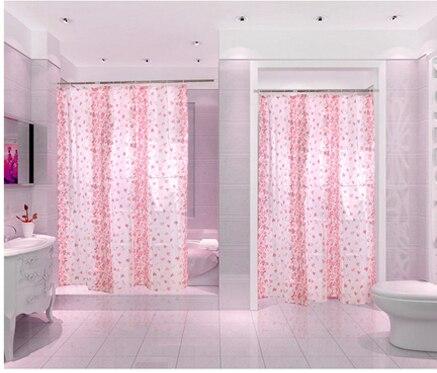 Aliexpress com   Buy Red Flower Bath Curtains Polyester Fabric Shower Curtains Cortina De Banherio Waterproof Bathroom Window Curtain Plastic Hooks from. Aliexpress com   Buy Red Flower Bath Curtains Polyester Fabric