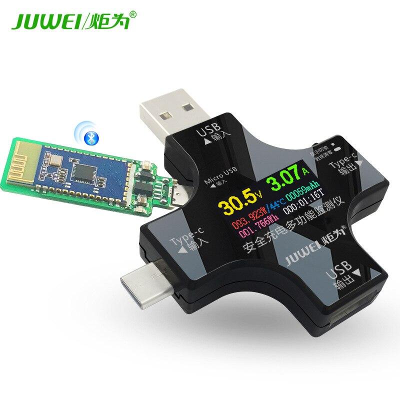 Couleur De La flamme Écran Testeur USB Tension Ampèremètre Type-C PD Testeur Wattmètre Bluetooth Communication Édition