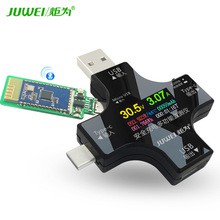 power z usb pd tester qc2 0 qc3 0 km001 voltage current ripple dual type c meter power bank high precision detector tester Torch Color Screen Tester USB Voltage Ammeter Type-C PD Tester Power Meter Bluetooth Communication Edition