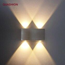 Nowoczesna lampa sufitowa LED 2W4W6W8W kinkiety ścienne kryty AC100V/220 V oświetlenie schodów oprawa sypialnia lampki nocne salon korytarz w górę w dół Lampada w Wewnętrzne kinkiety LED od Lampy i oświetlenie na