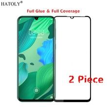 2Pcs Huawei Nova 5 Glass Tempered for Film HD Full Glue Cover Phone Screen Protector