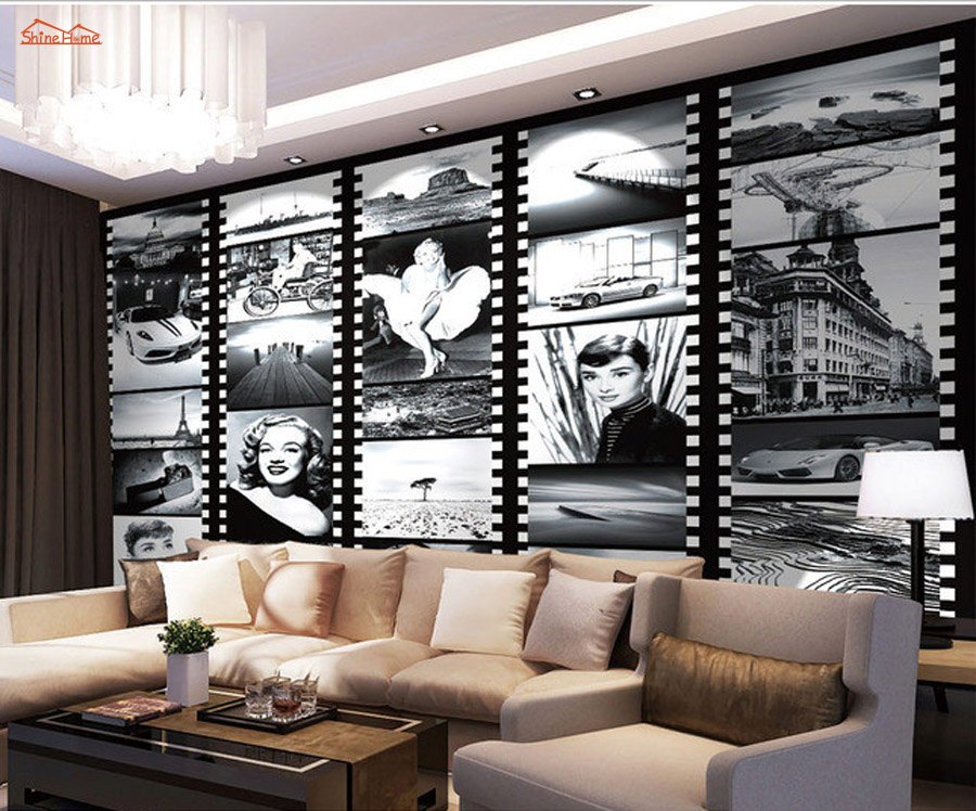 Sexy Goddess Superstar Marilyn Monroe Newspaper Classical 3D Wallpaper For Walls Bedroom Mural Rolls Livingroom Home Decor