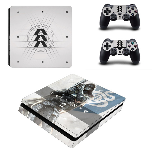 Game Destiny 2 PS4 Slim Skin Sticker Decal for Sony PlayStation 4 Console  and 2 Controller Skin PS4 Slim Sticker Vinyl Accessory
