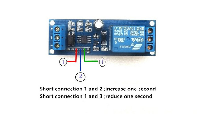 12V Relay control module electronic timer delay switch timing off