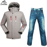 Saenshing Ski Suit Men Waterproof Snowboard Jacket Ski Pants Thermal Skiing And Snowboarding Sets Sport Winter