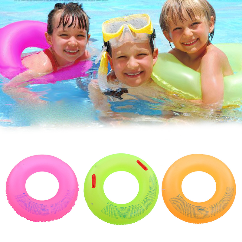 Adult and Children Summer Inflatable Color Random Swim Ring Swimming Pool Boardwalk Swim Ring