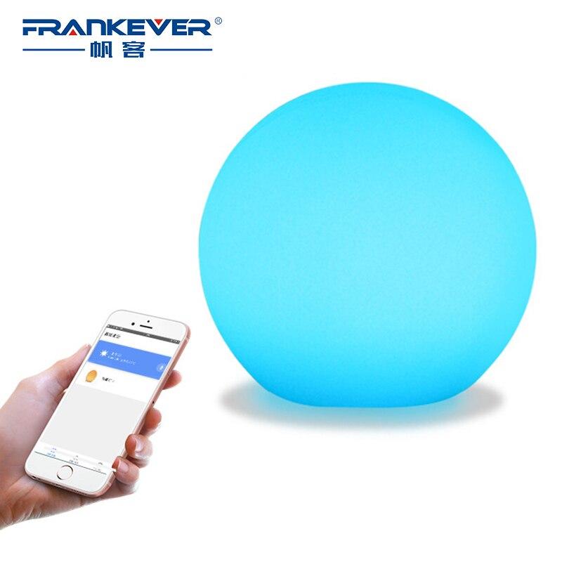 FRENKEVER ampoule de contrôle intelligente 1.5 W Dimmable sans fil LED ampoule RGBW lampe pour salon Compatible avec Alexa google home