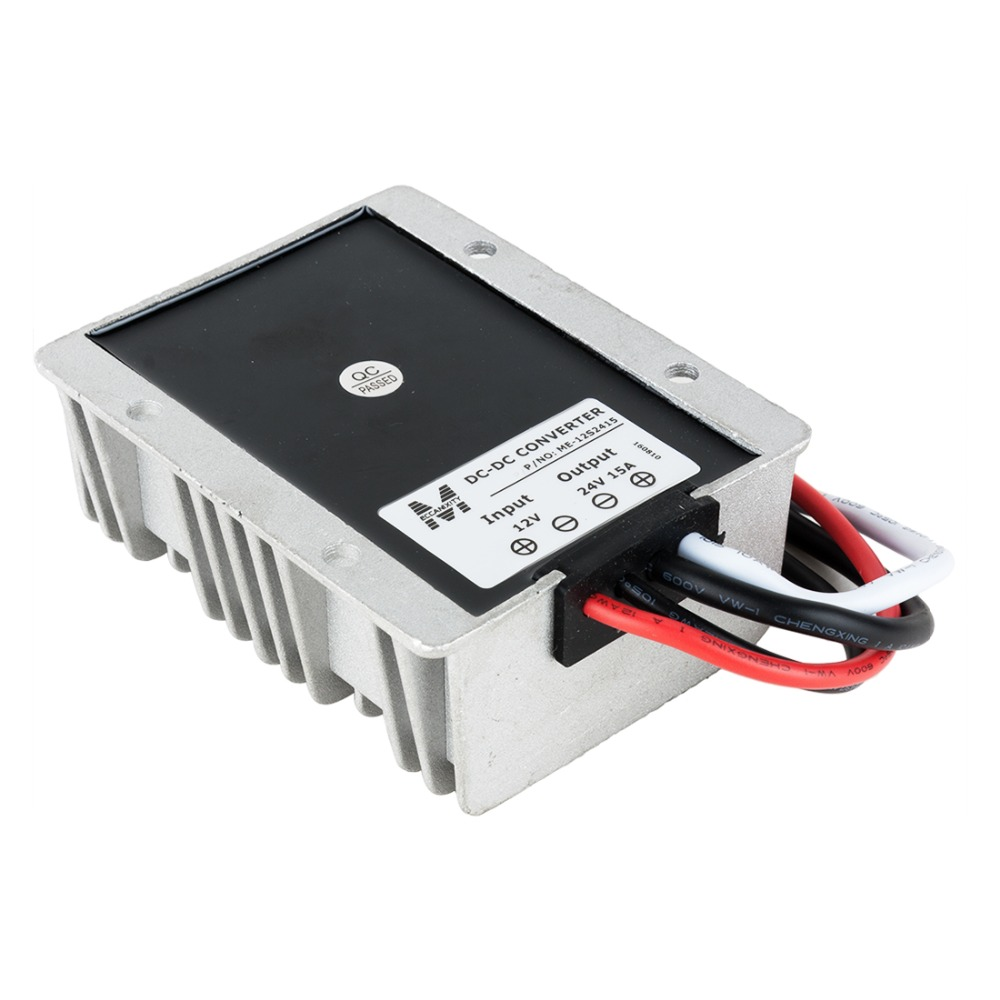 Waterproof Regulator Module Step Up DC 12V to DC 24V 15A 360W for Large Trucks Voltage Converter Power Boost Transformer wholesale 1pcs dc dc step up converter boost 2a power supply module in 2v 24v to out 5v 28v adjustable regulator board dropship