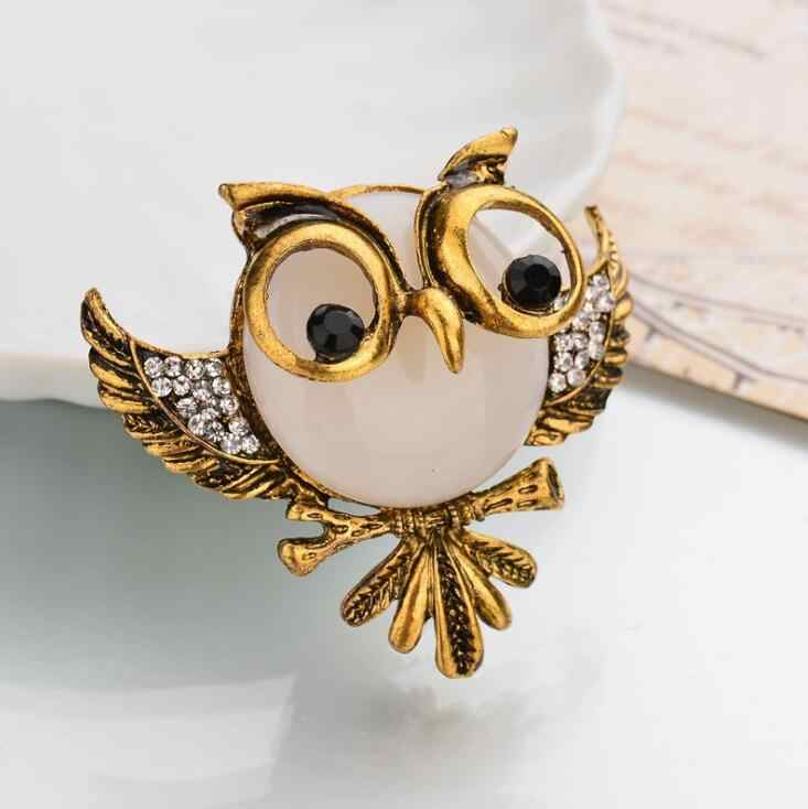2018 Kawaii Owl With Glasses Brooch Bright Enamel Esmalte Bird Animal Clothing Accessories Women Brooches Hijab Pins Clips Gift