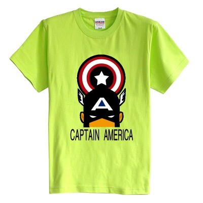 Niños camiseta del verano de manga corta de Hombre de Hierro Capitán América Shield 3 de dibujos animados 100% algodón niño niña kid t camisa