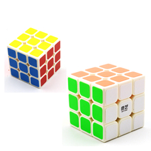 New QiYi Sail Magic Cubes 3x3x3 5 6cm PVC Sticker Puzzle Competition Speedcube Toys For Children