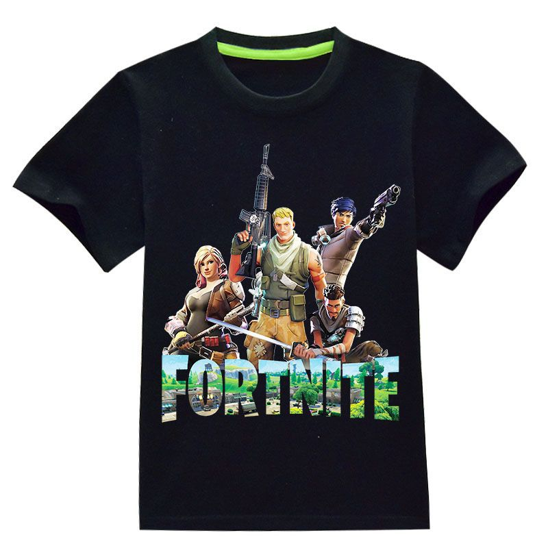 Fortnite Short Sleeve Coton Tee Shirt Girls Funny TGA FPS Popular Game Summer Boys T-shirt Fashion Cartoon Print Tshirt New 2018