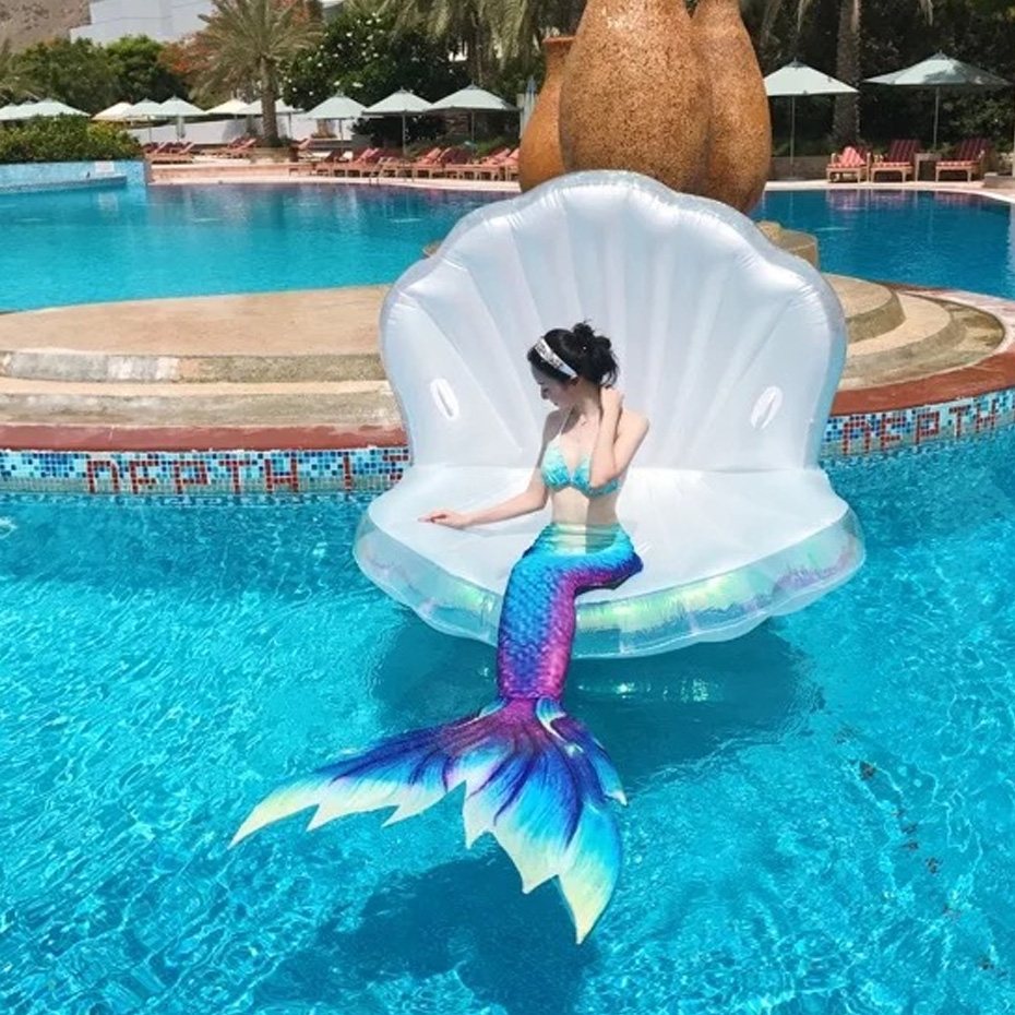Giant Pearl Scallops Inflatable Pool Float Shell Mattress Lounger With  Handle And Pearl Ball Water Sofa Party Toys Swimming Ring In Swimming Rings  From ...